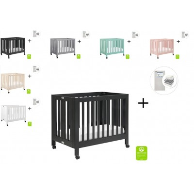 Babyletto Origami Mini Crib with Start Super Firm Mattress