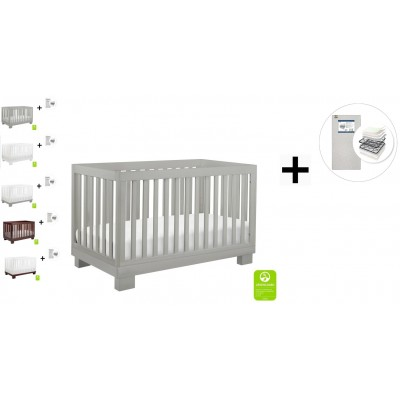 Babyletto Modo 3-in-1 Convertible Crib, Toddler Bed Conversion Kit with Start Super Firm Mattress