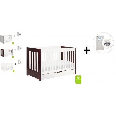 Babyletto Mercer 3-in-1 Convertible Crib, Toddler Bed Conversion Kit with Start Super Firm Mattress