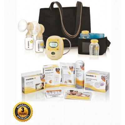 Medela Freestyle Hands Free Electric Breast Pump Solution Set with 3 Year Warranty