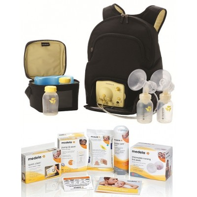 Medela Pump In Style Advanced Backpack Electric Breast Pump Solution Set 57062BN Square