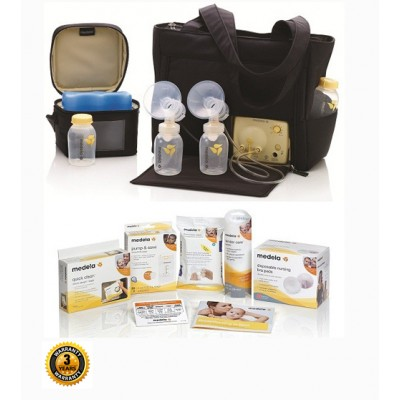 Medela Pump In Style Advanced On the Go Tote Electric Breast Pump Solution Setwith 3 Year Warranty