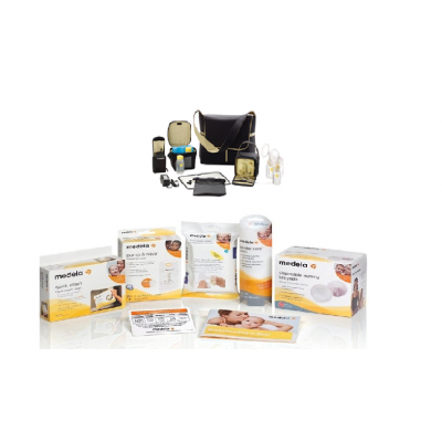 Medela Pump in Style Metro Tote Double Electric Breast Pump  Solution Set