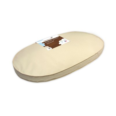 "Naturepedic Organic Cotton Crib Mattress Oval (fits Stokke Sleepi Crib) 27"" x 47"" x 3"""