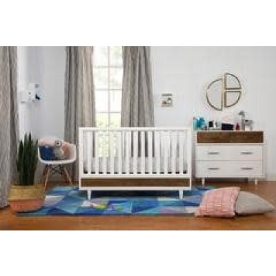 Babyletto Eero Collection Package in White / Natural Walnut