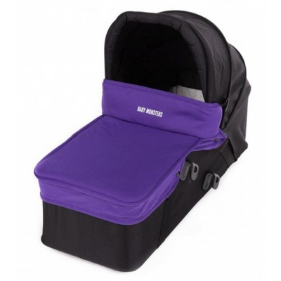Baby Monster Carrycot with Lid - Purple