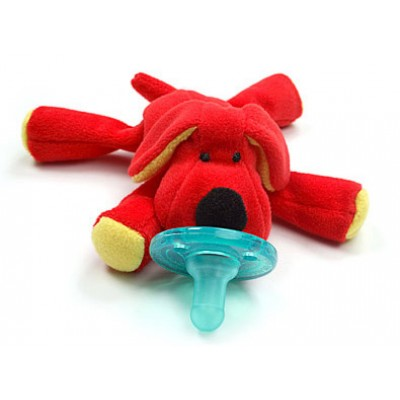 WubbaNub Baby Red Dog Infant Pacifier