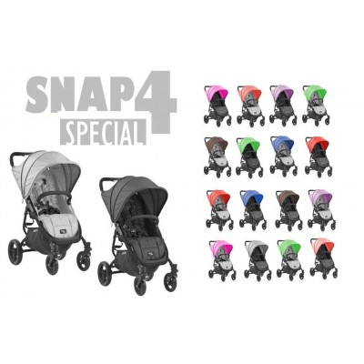 Valco Baby Snap 4 Lightweight Single Stroller - Silver