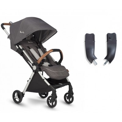 Silver Cross Jet Special Edition Stroller and Car Seat Adapter Set - Galaxy