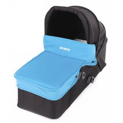 Baby Monster Carrycot with Lid - Turquoise