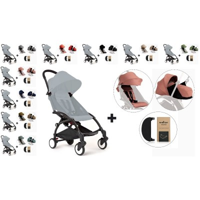 BabyZen YoYo+ Stroller with 0+ Newborn Pack, Color Pack and Adjustable Footrest - Black
