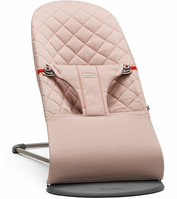 e5ed9966335 BabyBjorn Fabric Seat for Bouncer Bliss - Quilted Cotton - Old Rose   Dusty  Pink - Free Shipping - No Tax