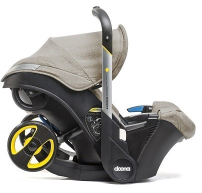 Doona Infant Car Seat Stroller with Base, All Day Bag and SnapOn Storage