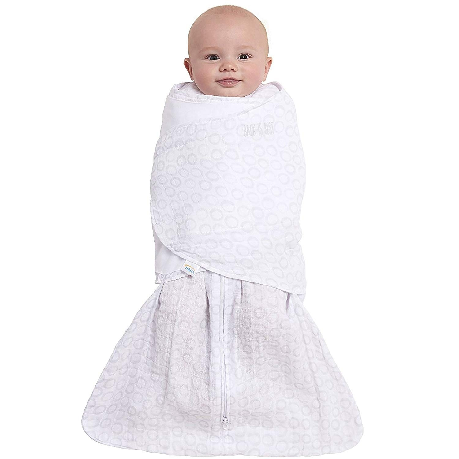 huge discount 0adb8 3f9e7 Halo Sleepsack Swaddle Grey Open Circles - Small