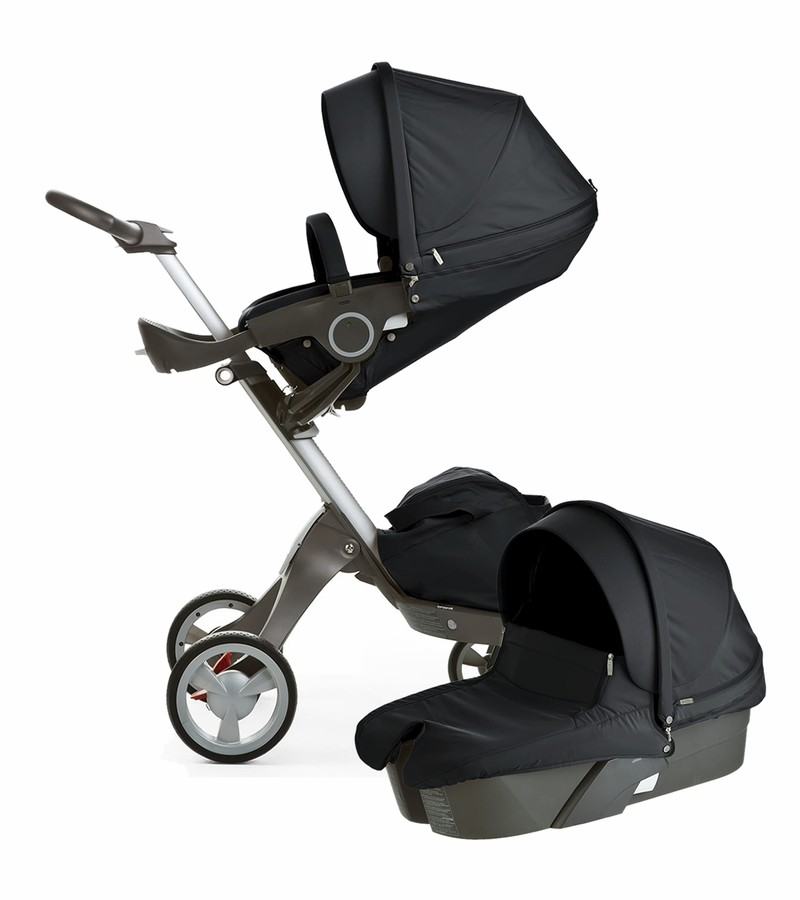 stokke xplory v4 stroller newborn package black. Black Bedroom Furniture Sets. Home Design Ideas