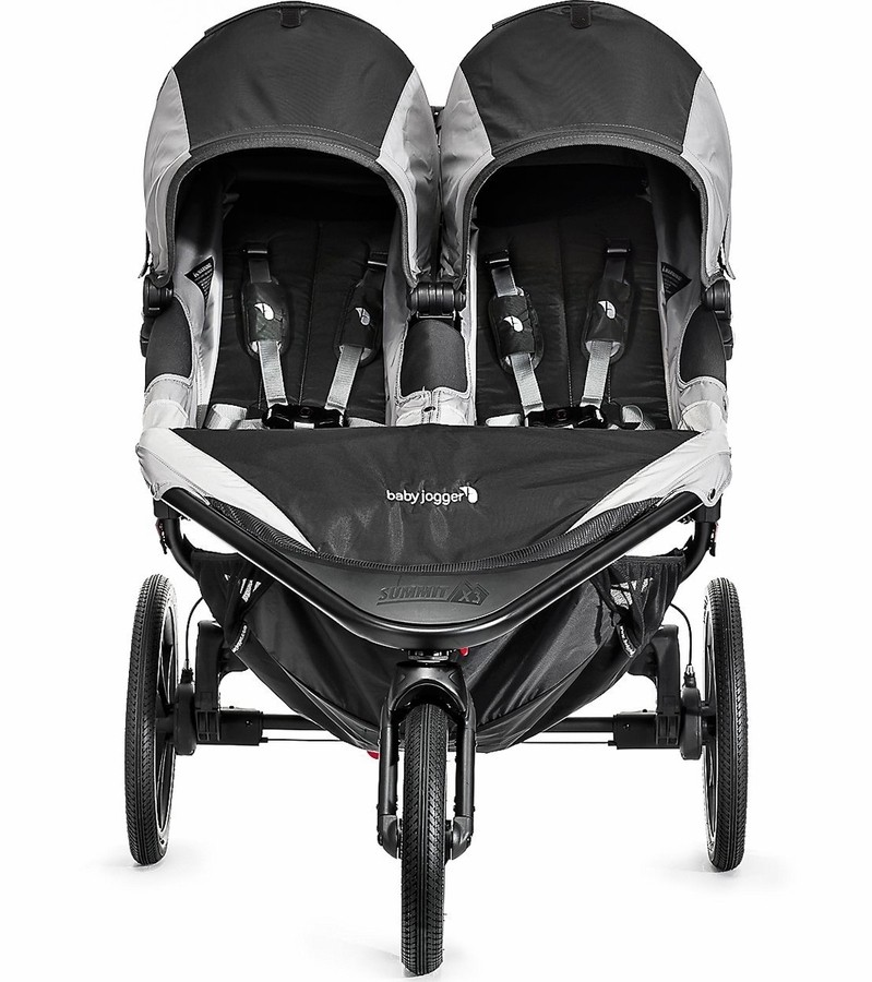 Baby Jogger Summit X3 Double Jogging Stroller Black Gray