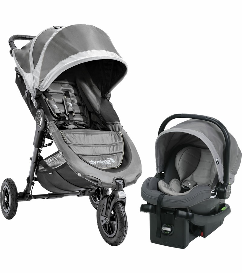 Baby Jogger City Mini Gt Travel System Steel Grey Free