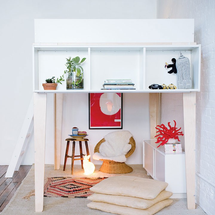 Oeuf Perch Loft Bed Storage Shelving Unit