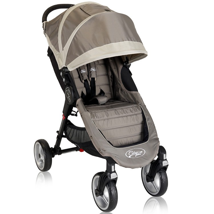 Baby Jogger City Mini Four Wheel Lightweight Easy Fold Stroller Sand Stone