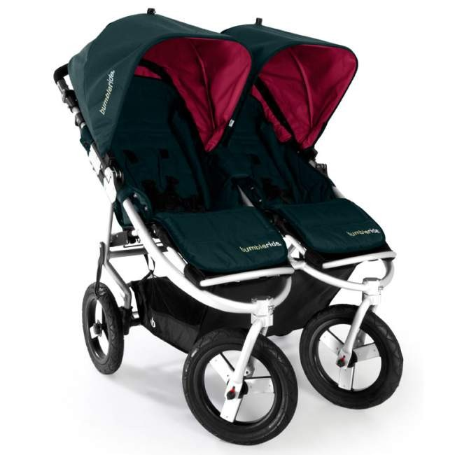 Bumbleride Indie Twin Jogging Stroller in Lotus With Pink Canopies ...