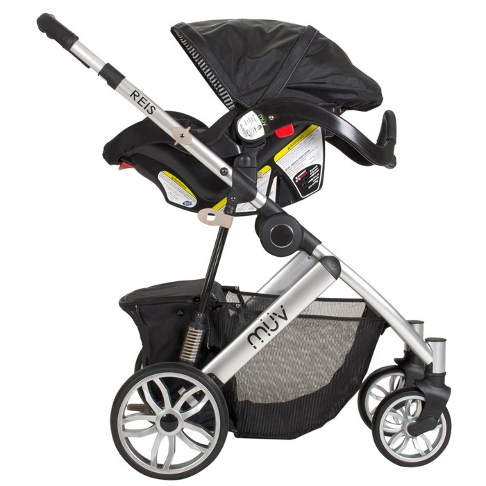 Muv Reis Stroller With Bassinet And Canopy 4 Wheel