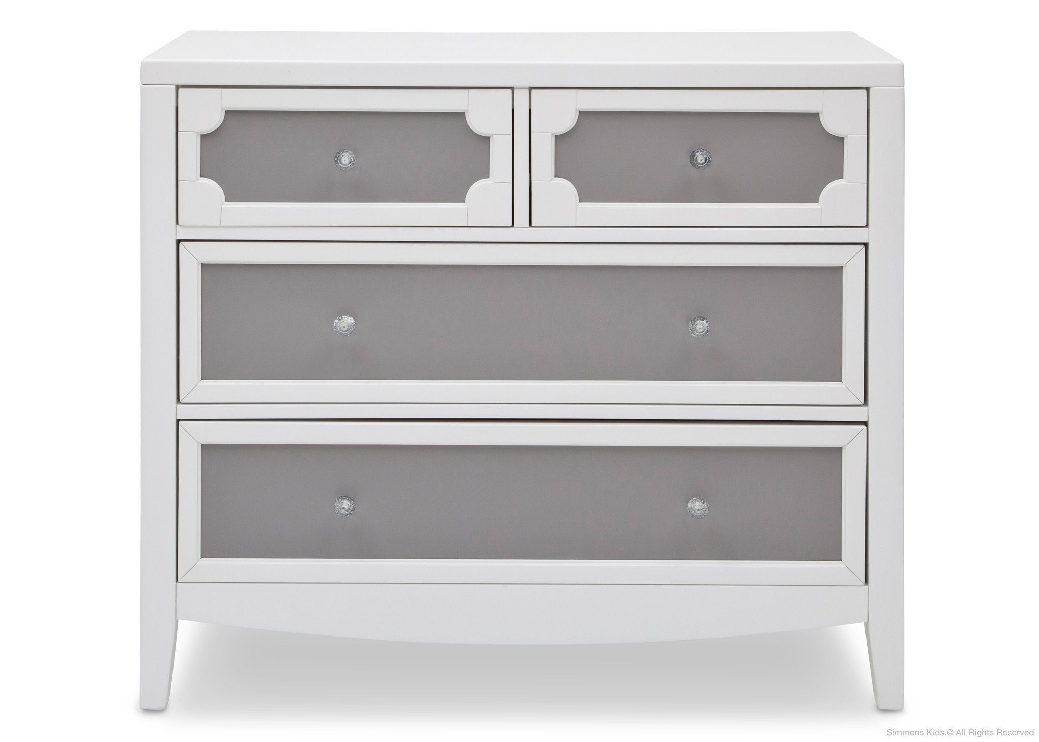 Delta 4 Draw Dresser White Grey