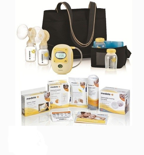 Medela Freestyle Hands Free Electric Breast Pump Solution Set With