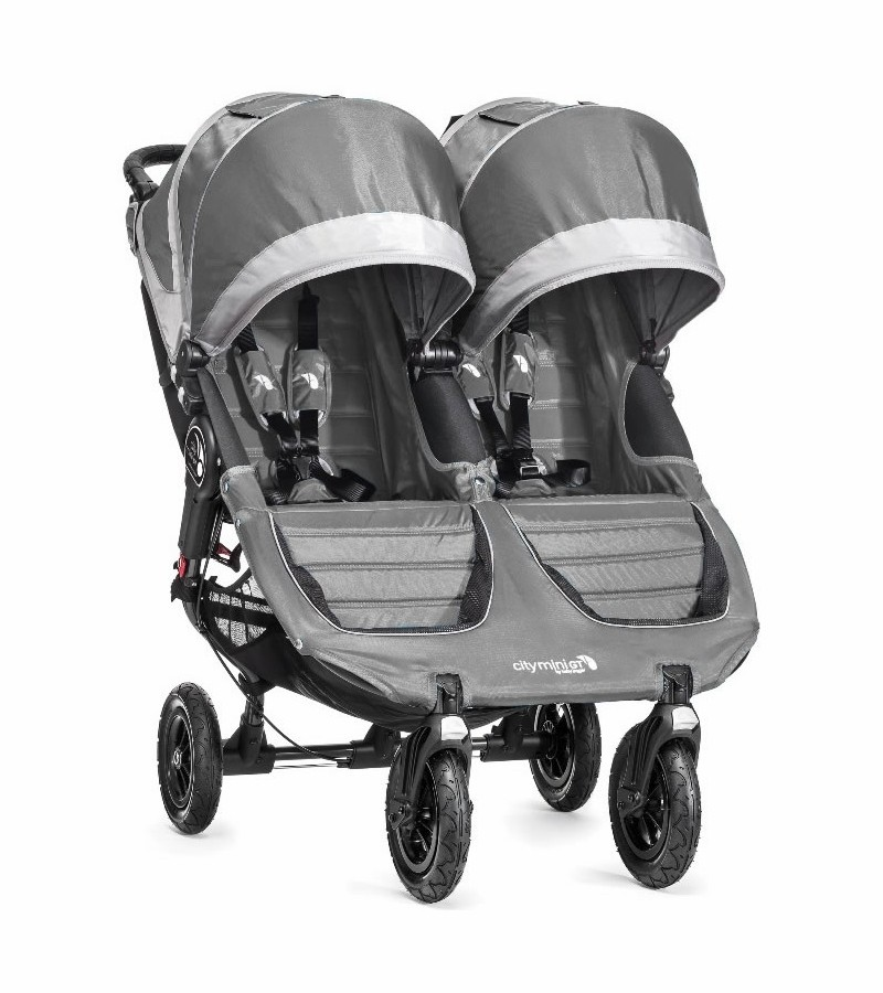 Baby Jogger City Mini Gt Double Stroller Steel Gray