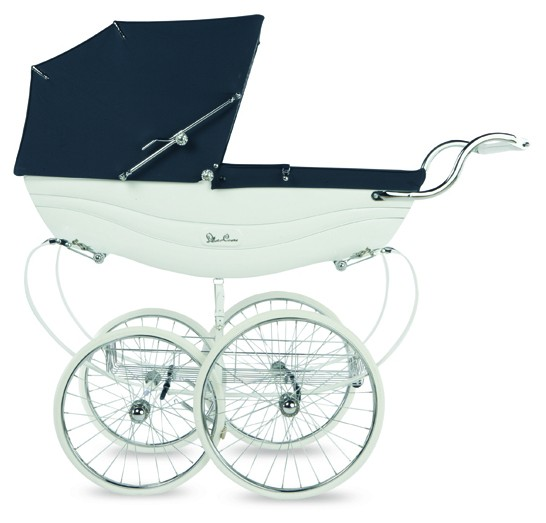 Pram Canopy  to fit Silver Cross pram in white  Broderie Anglaise