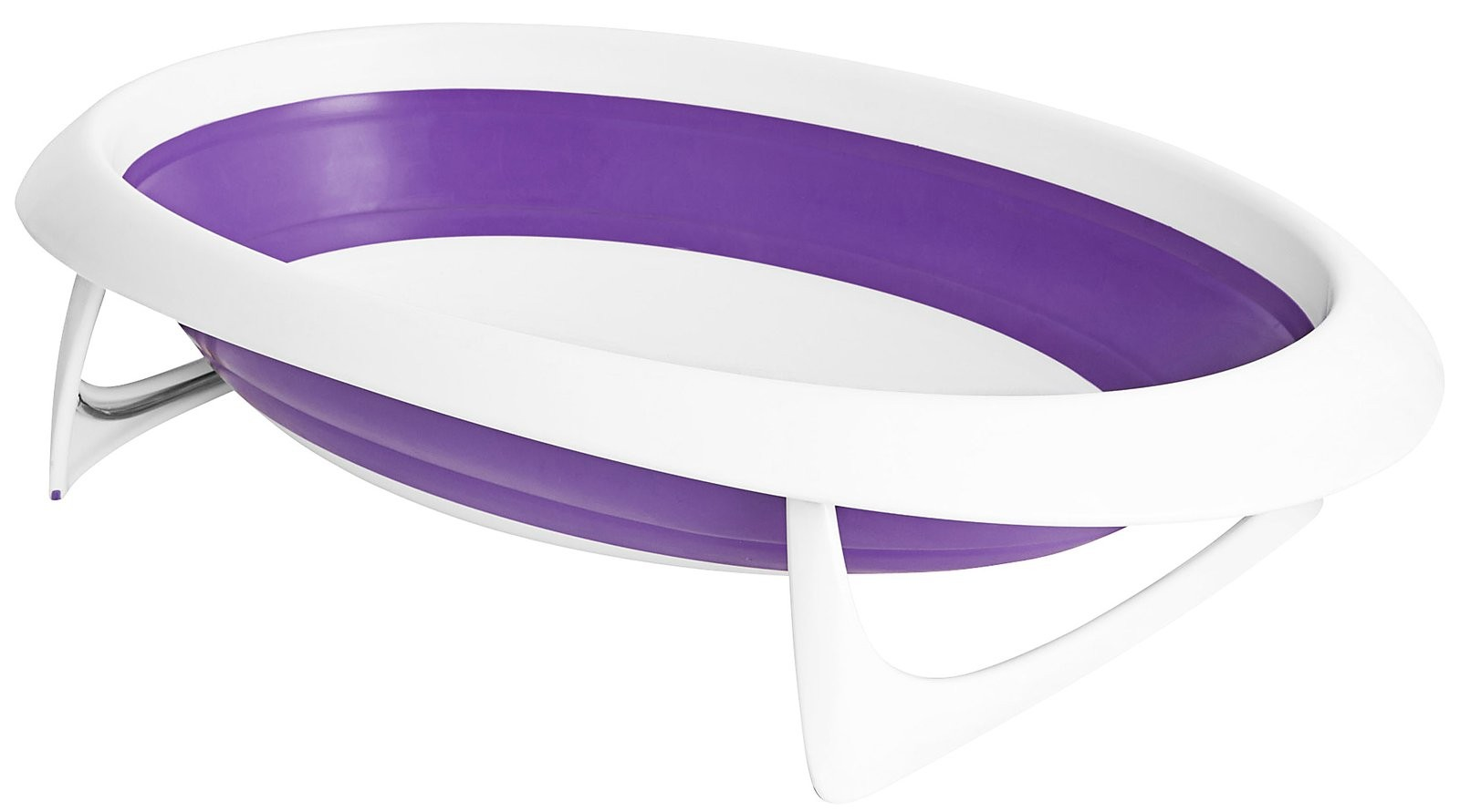 Boon NAKED 2-Position Collapsible Baby Bathtub - Purple & White ...