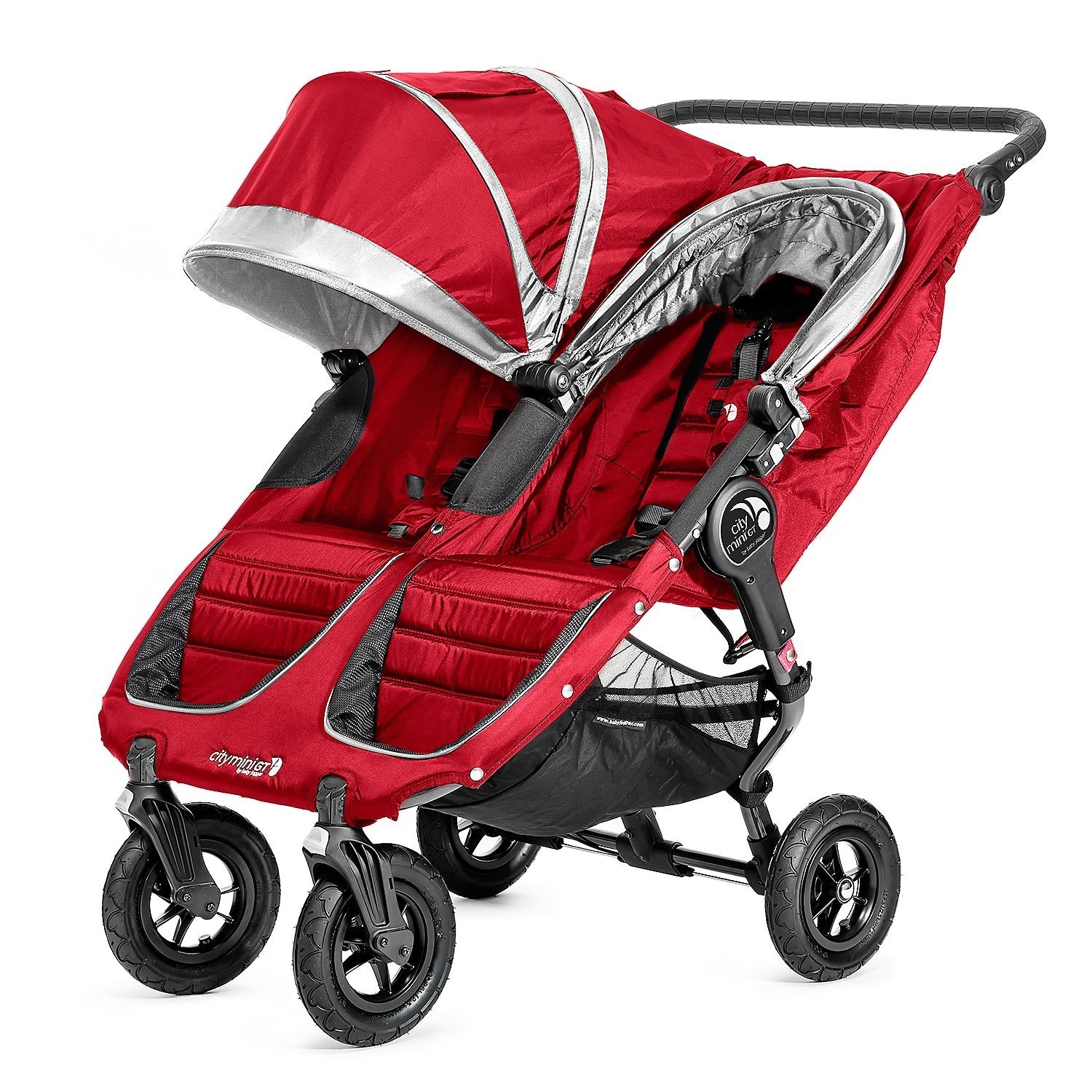 Baby Jogger City Mini Gt Double Stroller Crimson Gray