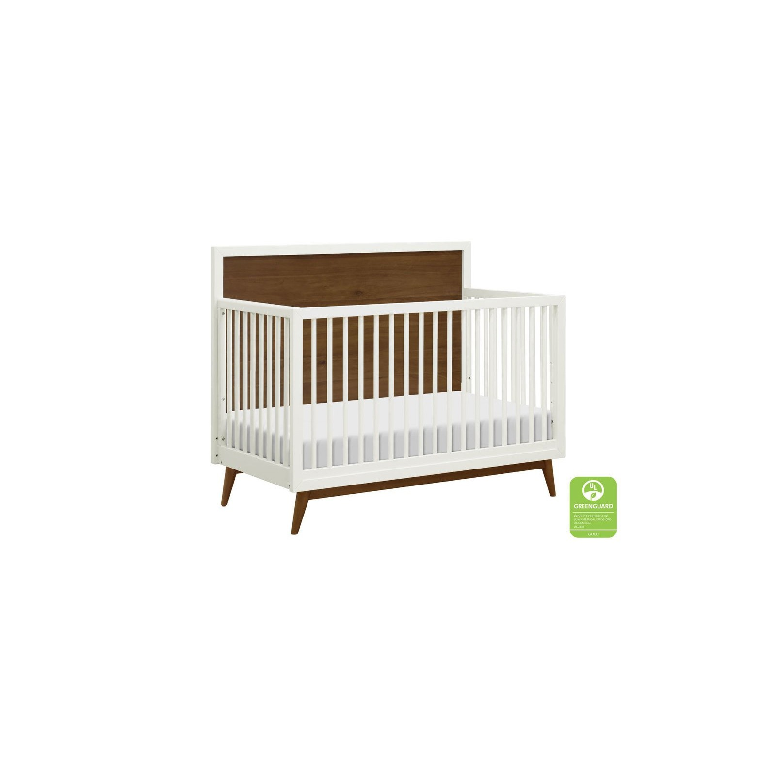 Assembled Babyletto Palma 7-Drawer Double Dresser Warm White with Natural Walnut