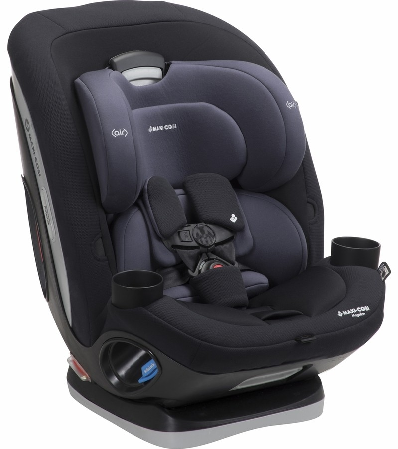 Maxi-Cosi Magellan XP 5-in-1 Convertible Car Seat Midnight Slate with Baby on Board Sign