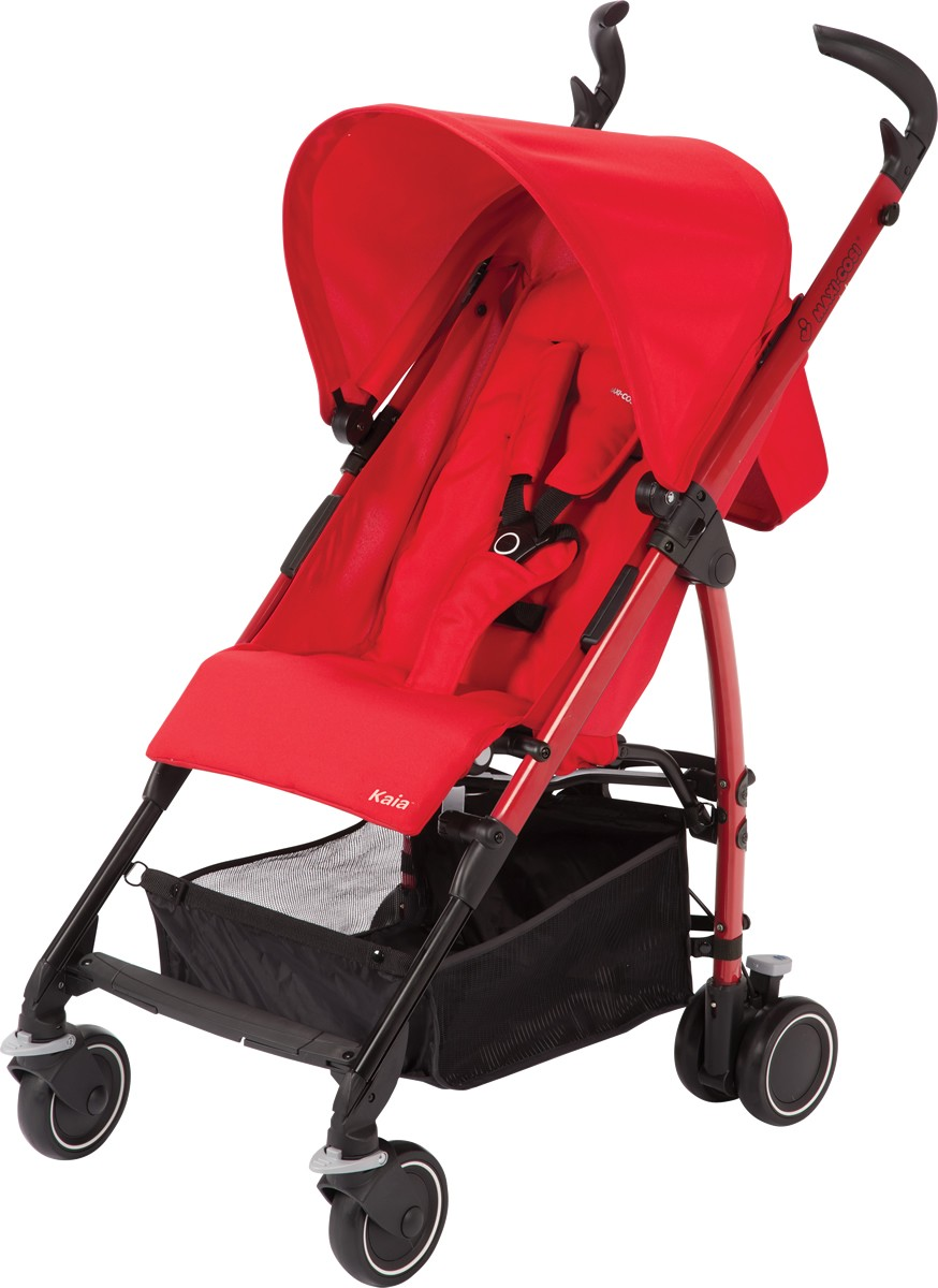 maxi cosi kaia lightweight umbrella stroller  strollers  strollers - maxi cosi kaia lightweight umbrella stroller total black intense red