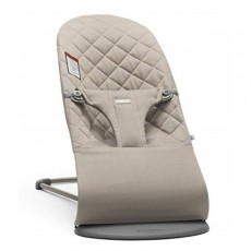 BabyBjorn Bouncer Bliss, Quilted Cotton - Sand Grey