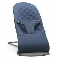 BabyBjorn Fabric Seat for Bouncer Bliss - Quilted Cotton - Midnight Blue