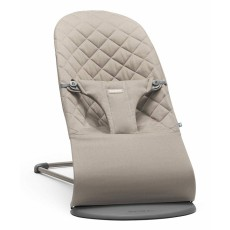 BabyBjorn Fabric Seat for Bouncer Bliss - Quilted Cotton - Sand Grey