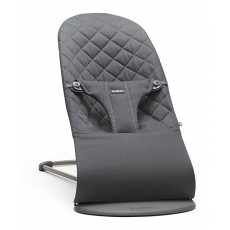 BabyBjorn Fabric Seat for Bouncer Bliss - Quilted Cotton - Anthracite (Slate Grey)