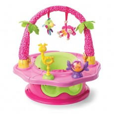Summer Infant Super Deluxe Seat - Sweet Island Giggles Pink