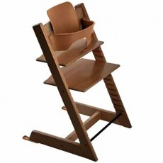 Stokke Tripp Trapp Baby High Chair & Baby Set - Walnut