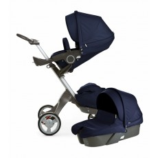 Stokke Xplory V4 Stroller Newborn Package - Deep Blue