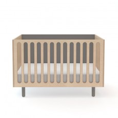 Oeuf Fawn Crib and Bassinet System - Grey/Birch