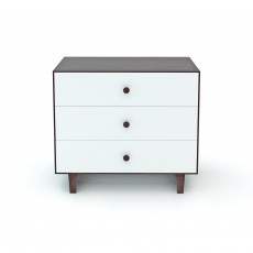 Oeuf Merlin 3 Drawer Dresser for Rhea Crib - Walnut/White
