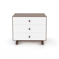 Oeuf Merlin 3 Drawer Dresser for Sparrow Crib - Walnut/White