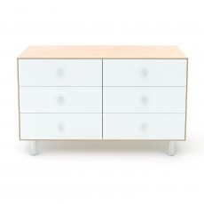 Oeuf Merlin 6 Drawer Dresser for Classic Crib - Birch/White