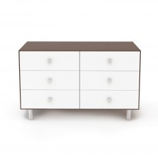 Oeuf Merlin 6 Drawer Dresser for Classic Crib - Walnut/White