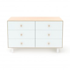 Oeuf Merlin 6 Drawer Dresser for Fawn Crib - Birch/White