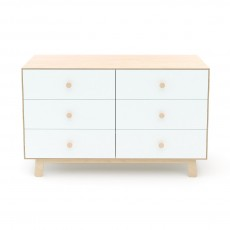 Oeuf Merlin 6 Drawer Dresser for Sparrow Crib - Birch/White