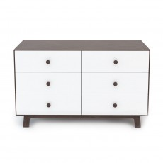Oeuf Merlin 6 Drawer Dresser for Sparrow Crib - Walnut/White