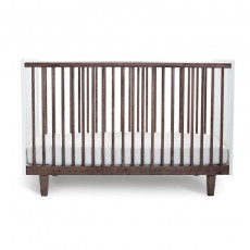 Oeuf Rhea Crib - White/Walnut